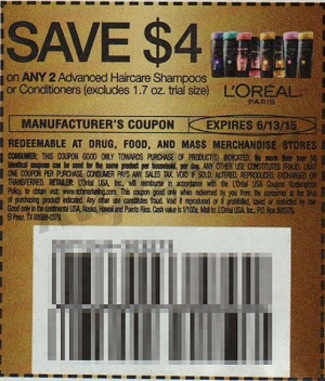 cupon-loreal-RedPlum-5_17 Target: L'Oreal Advanced Shampoo y Conditioner SOLO $0.74
