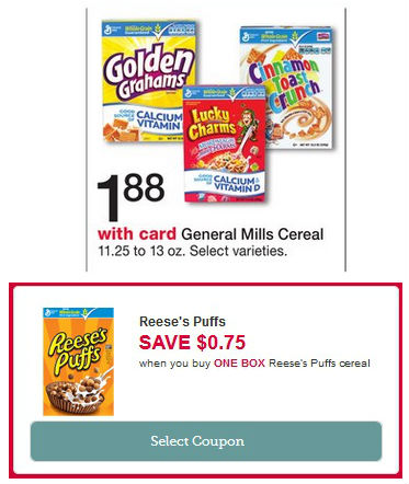 Reeses-Puffs-Cereal-Walgreens Cereal Reese's Puffs SOLO $1.13 en Walgreens