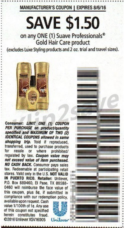 Suave Professionals Gold Hair Care - SS 7_24