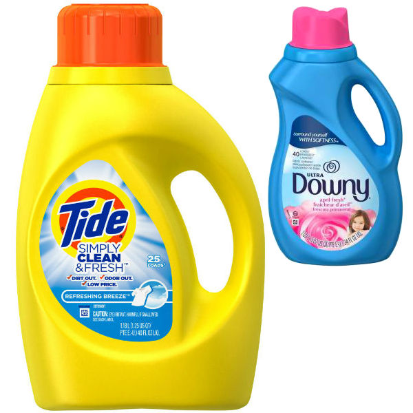 Tide Simply Clean y Downy