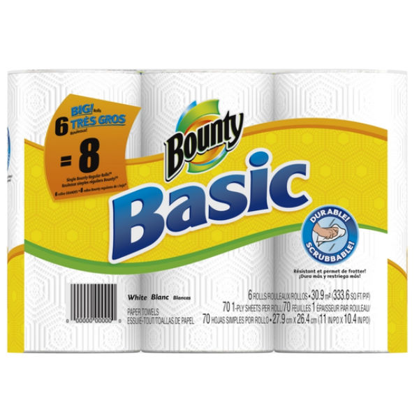 Bounty Basic de 6 rollos
