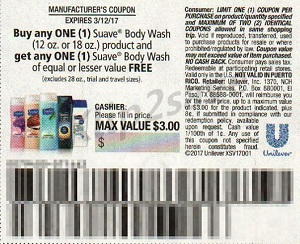 Suave Body Wash coupon RP 2-26-27
