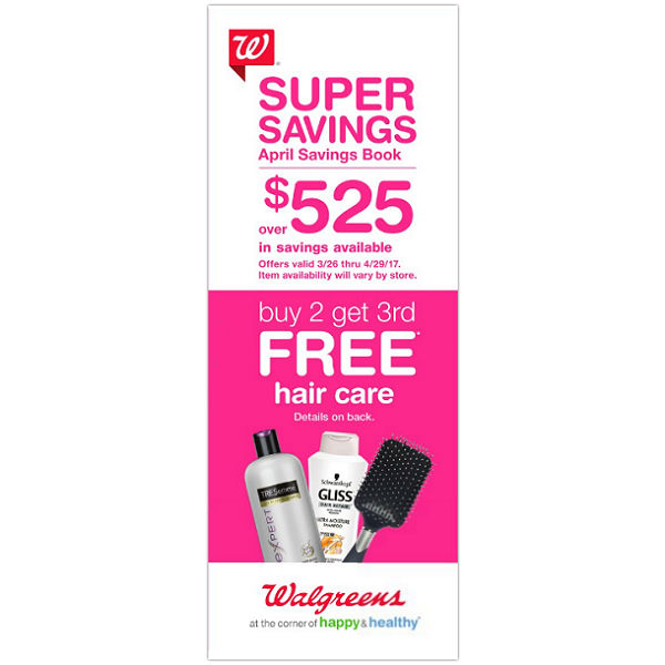 Walgreens Abril 2017 Coupon Booklet
