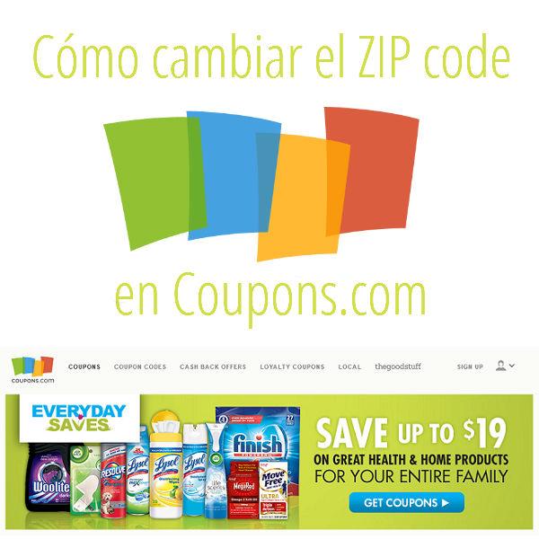 Como-cambiar-el-Zip-code- Como cambiar el ZIP code en coupons.com