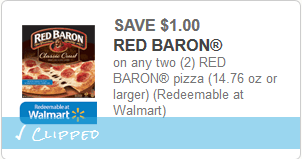 cupon de Red Baron Pizza
