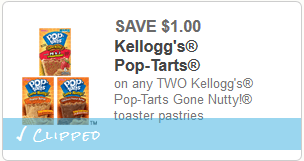 cupon Gone Nutty Pop Tarts
