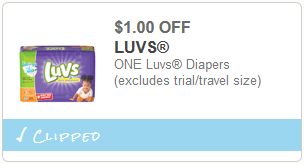 cupon Luvs Diapers