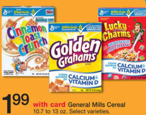shopper General Mills Cereal