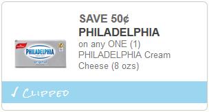 cupon PHILADELPHIA Cream Cheese