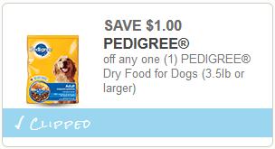 cupon Pedigree Dry Dog Food