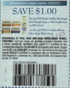 Yardley coupon