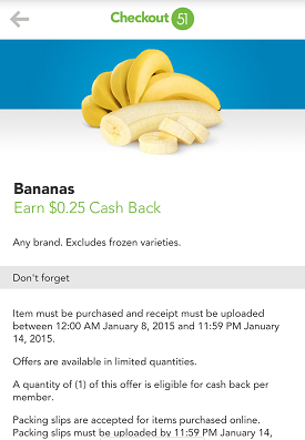 Checkout51 bananas