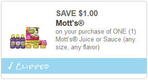 cupon Motts Snack and Go Applesauce