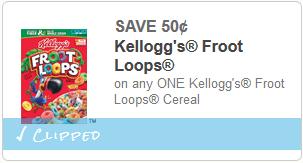 cupon Kelloggs Froot Loops