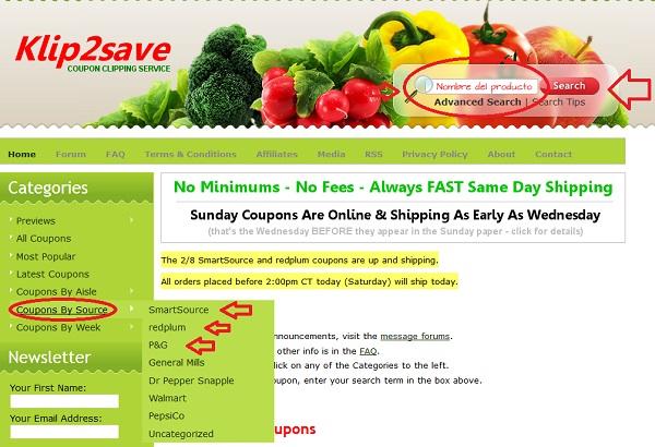Como ordenar cupones en klip2save for America s best contacts coupons