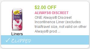 Always Discreet Liners