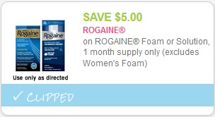 cupon Rogaine Mens