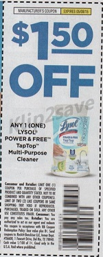 cupon Lysol