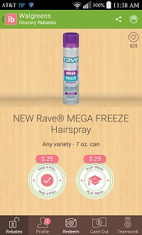 cupon Rave Mega Freeze Hairspray