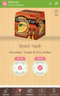 ibotta shock top 12 pack