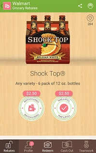 ibotta shock top 6 pack