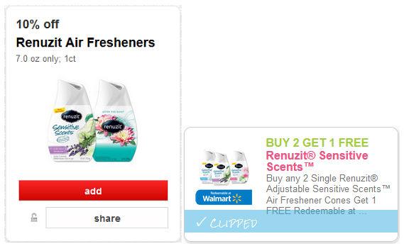 Renuzit air freshener coupons