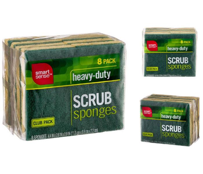Smart Sense Heavy-Duty Scrub Sponges - 8 PK