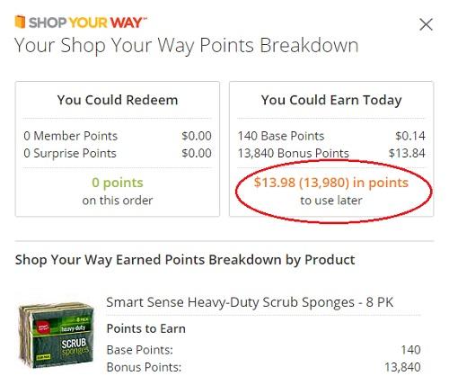Smart Sense Heavy-Duty Scrub Sponges Points offer