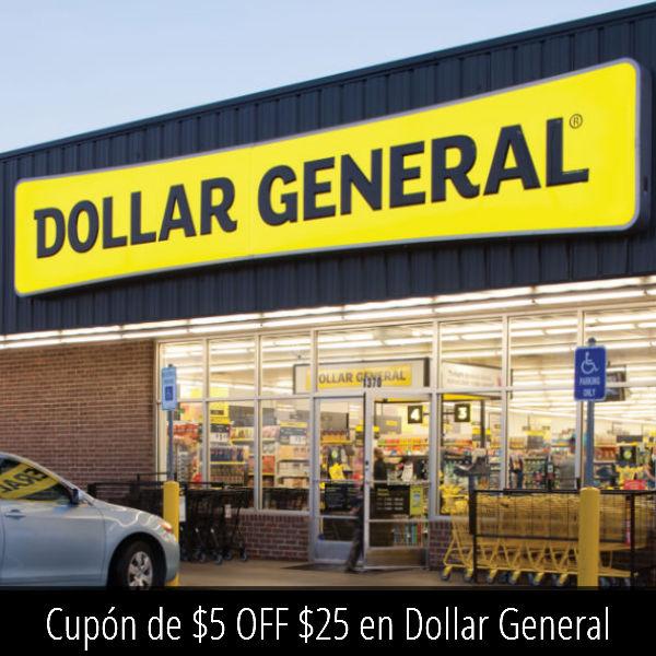 Cupón de $5 OFF $25 en Dollar General