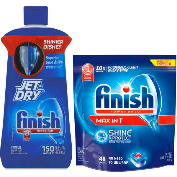 Finish Jet Dry y Max In 1 SOLO $5.04 cada uno en Target