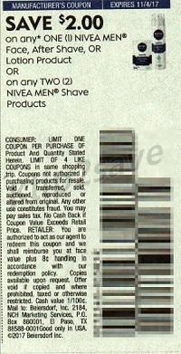 Nivea coupon SS 10-8-17
