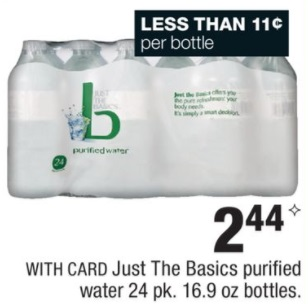 Just The Basics purified water - CVS Ad 10-8-17