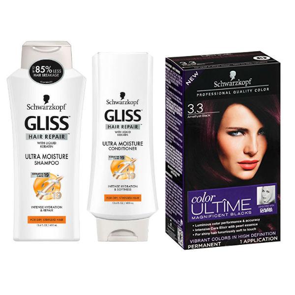 Schwarzkopf Gliss Shampoo y Ultime Hair Color