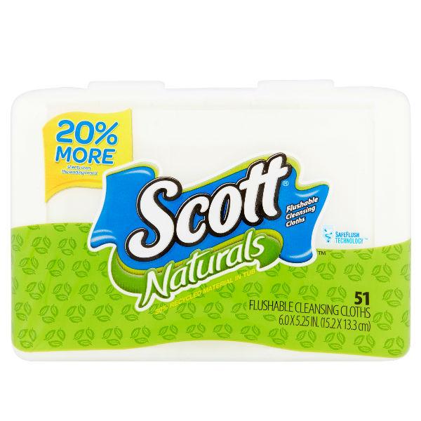 Scott Naturals Flushable Cleansing Cloths