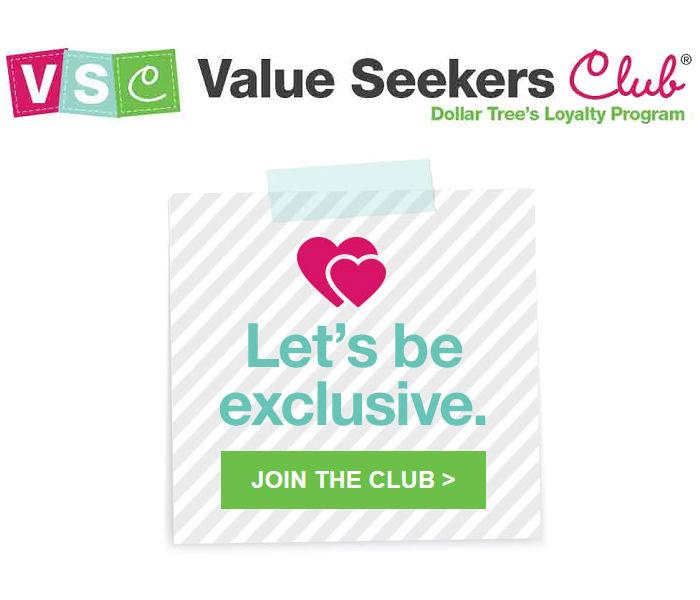 Únete al club de Dollar Tree para obtener acceso a concursos para miembros