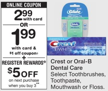 Crest or Oral Dental Care - Walgreens Ad 11-19-17