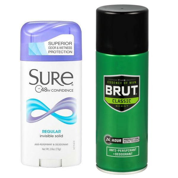 Desodorantes Brut o Sure
