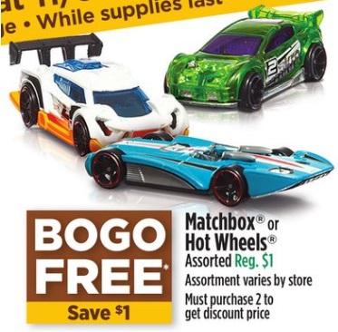 Matchbox o Hot Wheels - Dollar General Ad 11-9-17