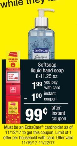 Softsoap - CVS Ad 11-19-17