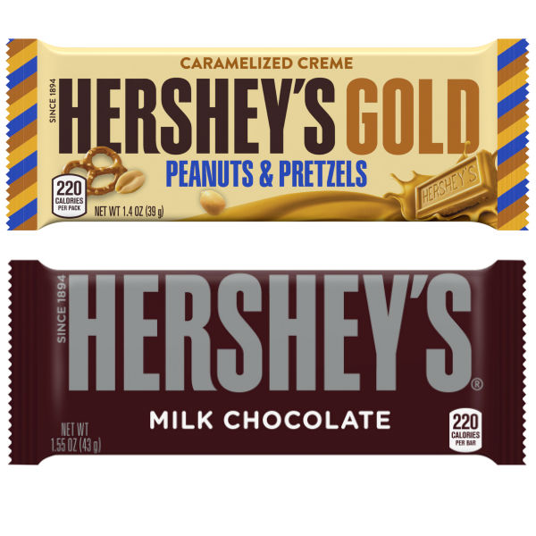 Barras de Chocolate Hershey's Gold