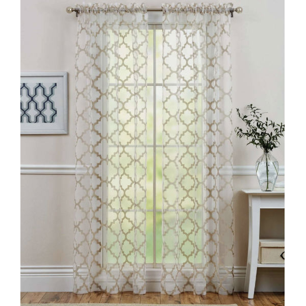 Better Homes and Gardens Trellis Sheer Panel