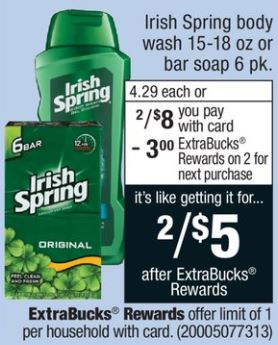 Irish Spring Body Wash - CVS Ad 12-10-17