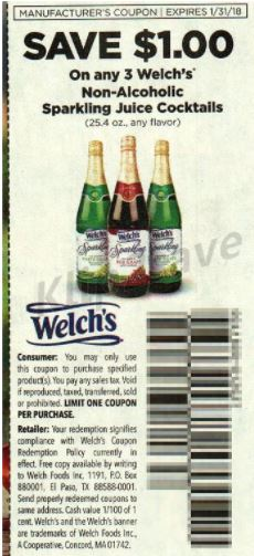 Welch's Non-Alcoholic Sparkling - RP 11-19-17