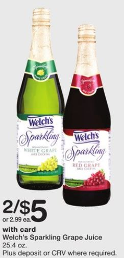 Welch's Sparkling Grape Juice - Walgreens Ad 12-24-17