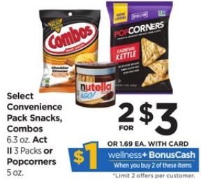Combos Snacks - Rite Aid Ad 1-14-18