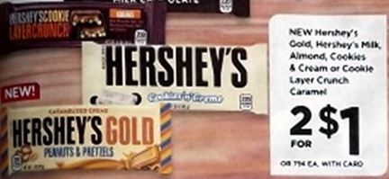 Hershey's Candy - Rite Aid Ad 1-21-18