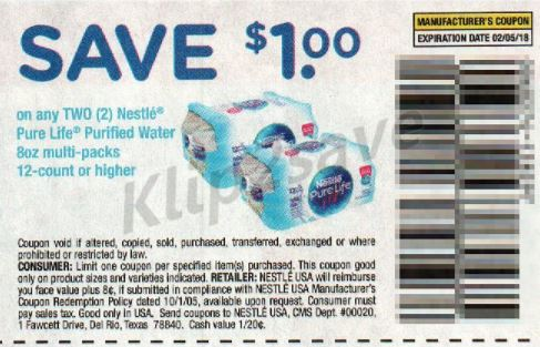 Nestle Pure Life water - RP 1-7-18