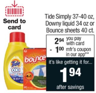 Tide Simply - CVS Ad 1-28-18