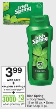 Irish Spring - Walgreens Ad 2-11-18