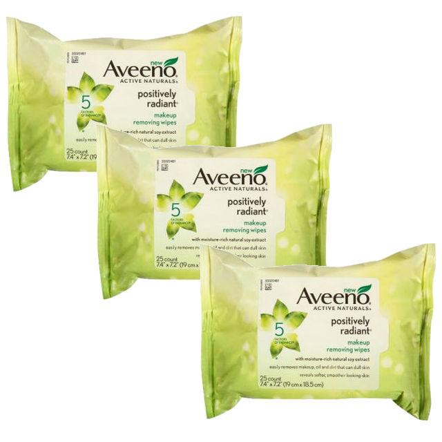 Aveeno Positively Radiant Wipes